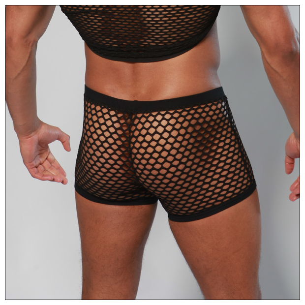 Black mesh boxer shorts from range of mens boxer briefs 9518351ec1fe